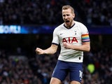 Tottenham Hotspur's Harry Kane celebrates scoring their first goal on December 7, 2019