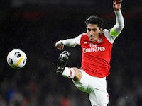Hector Bellerin in action for Arsenal on October 3, 2019