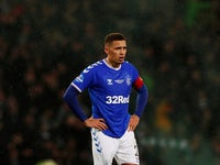 Rangers' James Tavernier looks dejected after the match on December 8, 2019