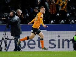 Jarrod Bowen celebrates scoring for Hull City on December 7, 2019