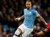 Kyle Walker in action for Manchester City on December 7, 2019