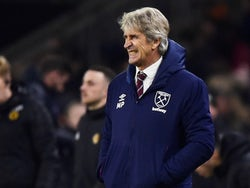 West Ham United manager Manuel Pellegrini reacts on December 4, 2019