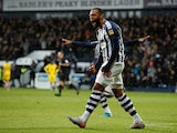 Matt Phillips celebrates scoring for West Bromwich Albion on December 8, 2019