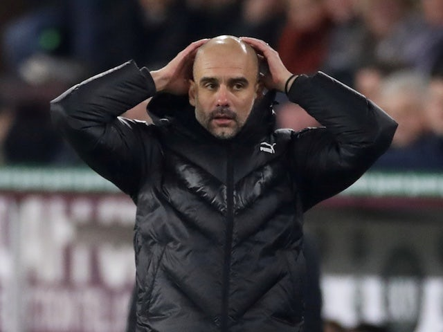 Manchester City manager Pep Guardiola reacts on December 3, 2019