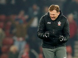 Southampton manager Ralph Hasenhuttl celebrates at the end of the match on December 4, 2019