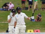New Zealand's Ross Taylor celebrates his century on December 3, 2019