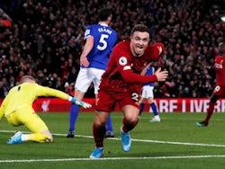 Liverpool's Xherdan Shaqiri celebrates scoring their second goal on December 4, 2019
