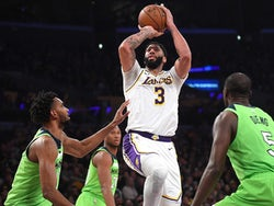 Anthony Davis in action for the Lakers on December 8, 2019