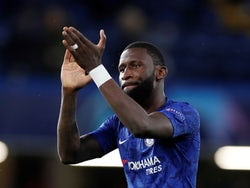 Antonio Rudiger pictured for Chelsea on December 10, 2019