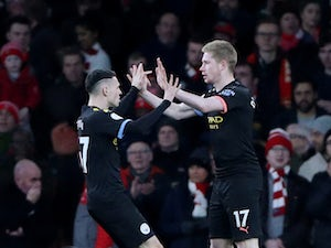 De Bruyne inspires City to win over Arsenal
