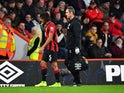 Bournemouth's Nathan Ake is substituted after sustaining an injury on December 7, 2019
