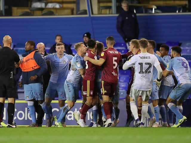 FA charge Coventry, Ipswich over player brawl in League One clash