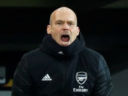 Arsenal interim manager Freddie Ljungberg reacts on December 12, 2019