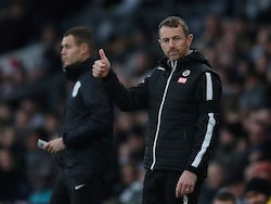 Millwall's manager Gary Rowett reacts on December 14, 2019