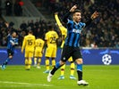 Inter Milan's Lautaro Martinez reacts after his goal is disallowed for offside on December 10, 2019