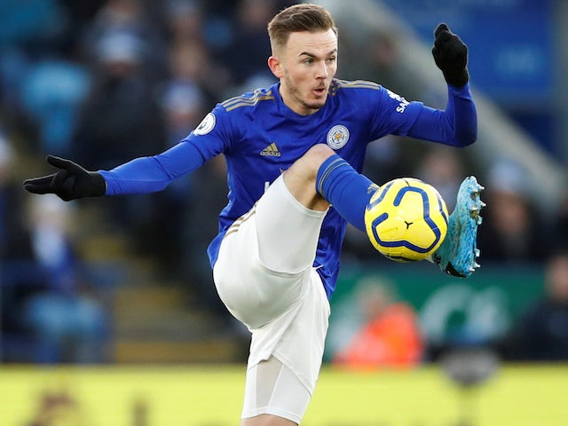 James Maddison in action for Leicester City on December 14, 2019