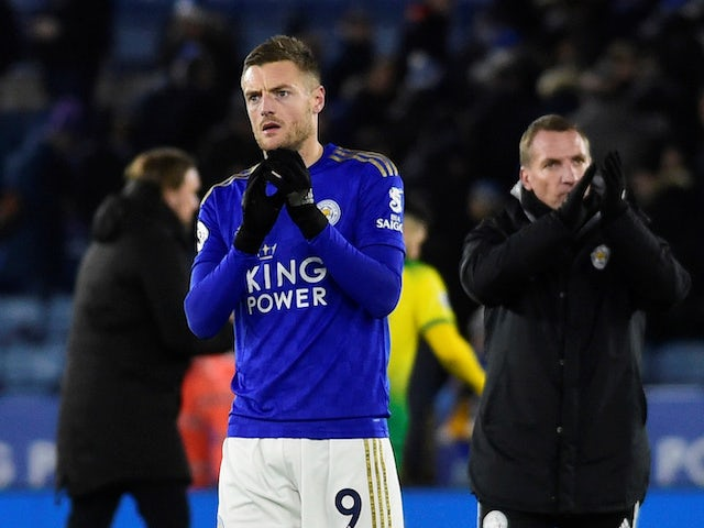 Jamie Vardy in action for Leicester City on December 14, 2019