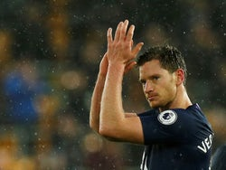 Jan Vertonghen celebrates sticking one in on December 15, 2019