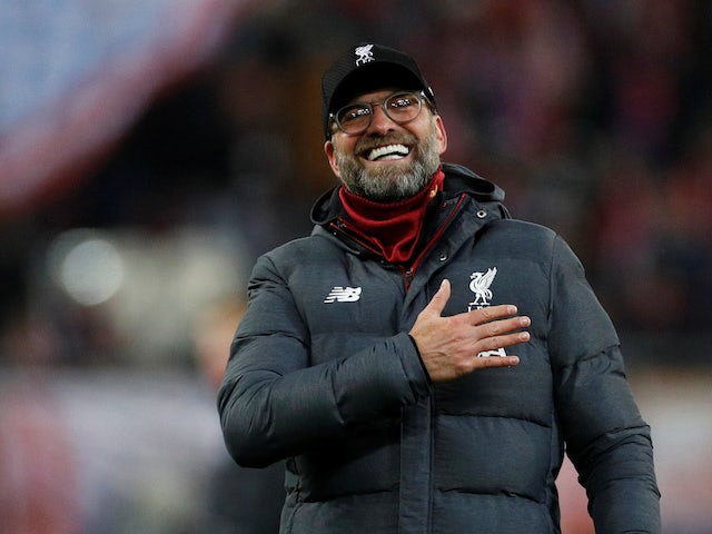 Liverpool boss Jurgen Klopp celebrates on December 10, 2019