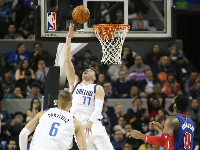 NBA roundup: Dominant Luka Doncic leads Mavericks past Pistons