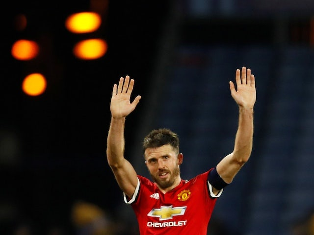 Michael Carrick pictured for Manchester United in 2017