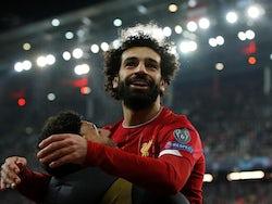 Mohamed Salah celebrates scoring for Liverpool on December 10, 2019