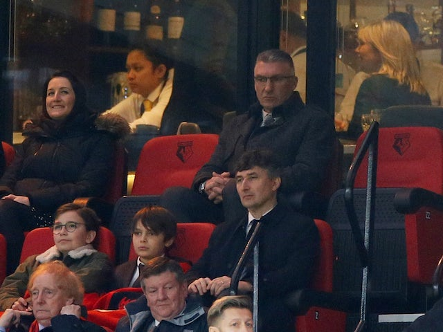 Watford manager Nigel Pearson in the stands on December 7, 2019