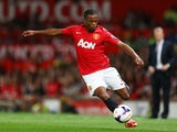Patrice Evra pictured for Manchester United in 2013
