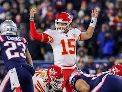 Patrick Mahomes in action for the Kansas City Chiefs on December 8, 2019