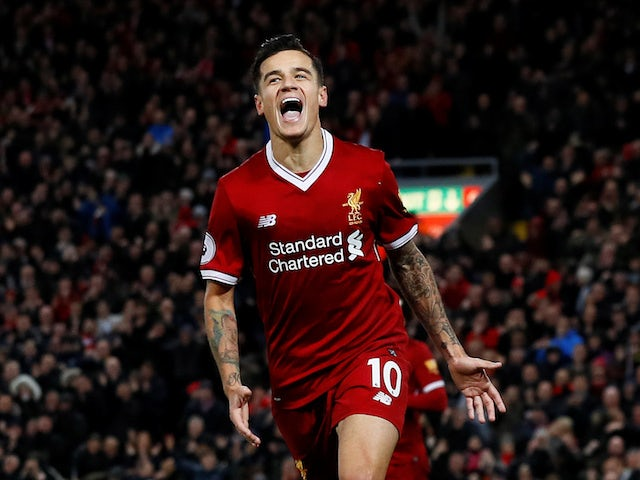Philippe Coutinho pictured for Liverpool in 2017