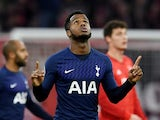 Ryan Sessegnon celebrates equalising for Spurs against Bayern on December 11, 2019