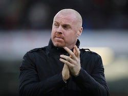 Burnley manager Sean Dyche before the match on December 14, 2019