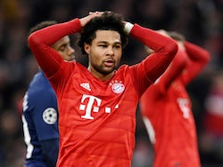 Bayern Munich's Serge Gnabry in action against Tottenham Hotspur in the Champions League on December 11, 2019