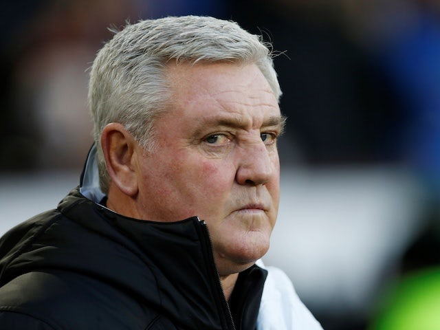 Newcastle United manager Steve Bruce before the match on December 14, 2019