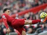 Trent Alexander-Arnold in action for Liverpool on December 14, 2019
