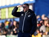 Graham Coughlan pictured in charge of Bristol Rovers in December 2019
