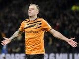 Hull City's Kamil Grosicki celebrates scoring their second goal on December 21, 2019
