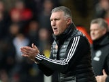 Watford boss Nigel Pearson pictured during the Premier League clash against Manchester United on December 22, 2019