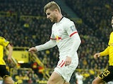Timo Werner in action for RB Leipzig on December 17, 2019