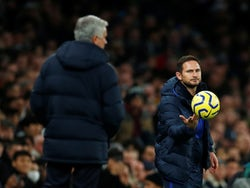 Jose Mourinho and Frank Lampard on the touchline as Tottenham Hotspur face Chelsea in the Premier League on December 22, 2019.