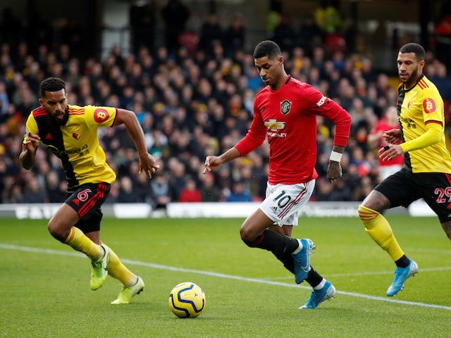 Manchester United's Marcus Rashford in action against Watford in the Premier League on December 22, 2019
