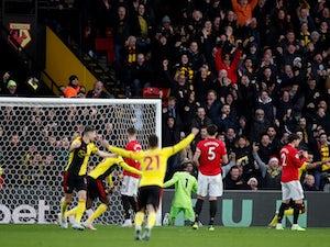 Manchester United lose to Watford at Vicarage Road