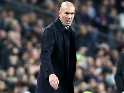 Real Madrid boss Zinedine Zidane on December 18, 2019