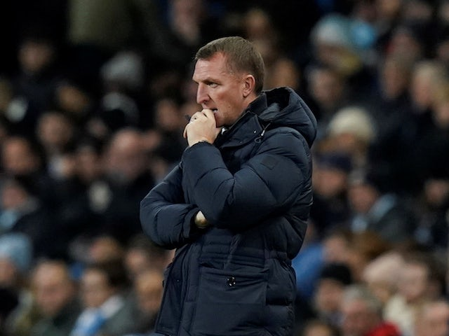 Leicester City manager Brendan Rodgers pictured in December 2019