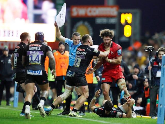 Result: Exeter gain revenge over rivals Saracens in feisty Premiership clash