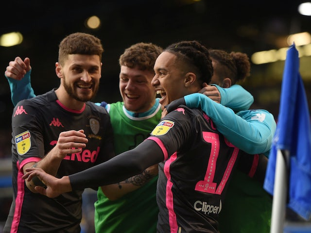 Leeds United's Helder Costa celebrates scoring their first goal on December 29, 2019
