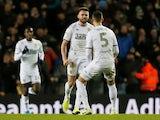 Leeds United's Stuart Dallas celebrates scoring their first goal on December 26, 2019
