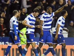 Reading's John Swift celebrates scoring their first goal with teammates on December 26, 2019