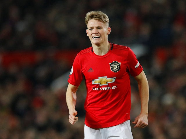 Manchester United's Scott McTominay reacts on December 26, 2019