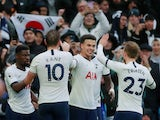 Tottenham Hotspur's Dele Alli celebrates scoring their second goal with teammates on December 26, 2019